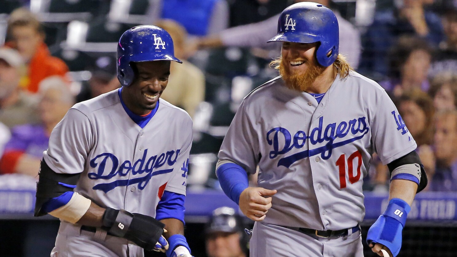 Dodgers' Dee Gordon, Justin Turner are living the postseason dream