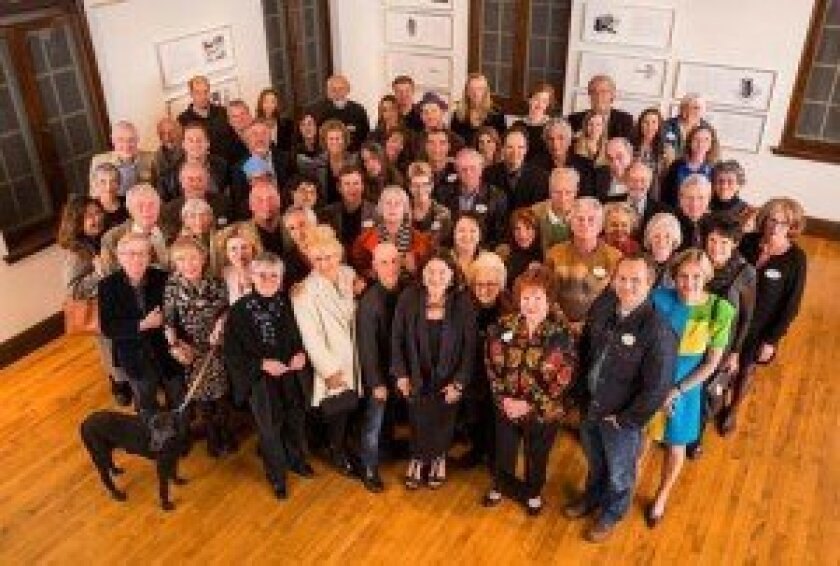 The Athenaeum Music & Arts Library staff, board members and artists celebrate the release of the Athenaeum book, 'Selections from the Permanent Collection: 1990-2010.' Courtesy