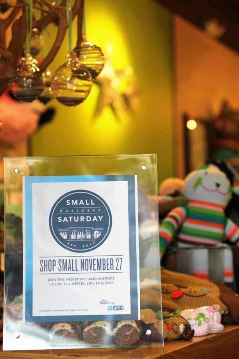 "Babies by the Sea boutique in Cardiff was among 10,000 businesses nationwide that promoted this year's Nov. 27 ""Small Business Saturday"" event by American Express."