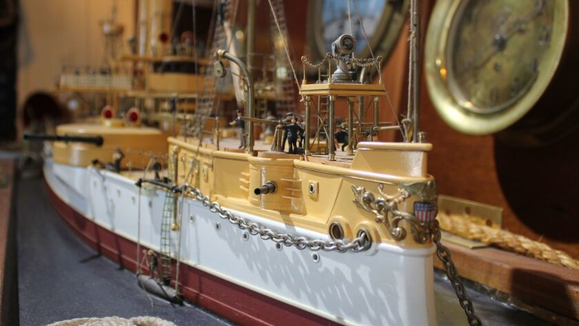 Detail of the USS Maine model