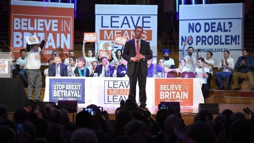 Leave Means Leave Brexit Campaign Hold Rally In Central Hall
