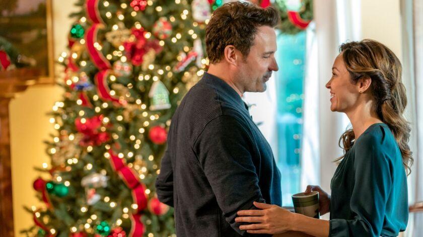 "A scene from the Hallmark movie ""A Bramble House Christmas."""