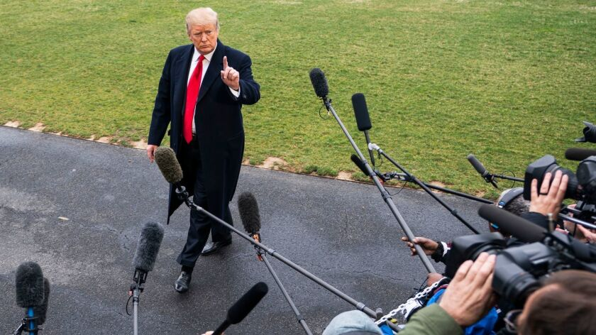 Trump speaks to media about Mueller report, Washington, USA - 22 Mar 2019