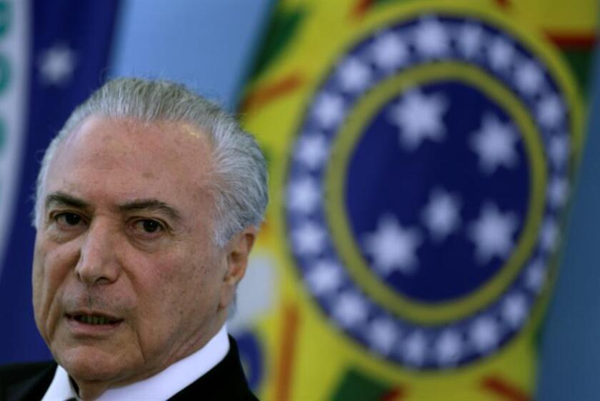 En la imagen, el presidente brasilieño, Michel Temer. EFE/Archivo