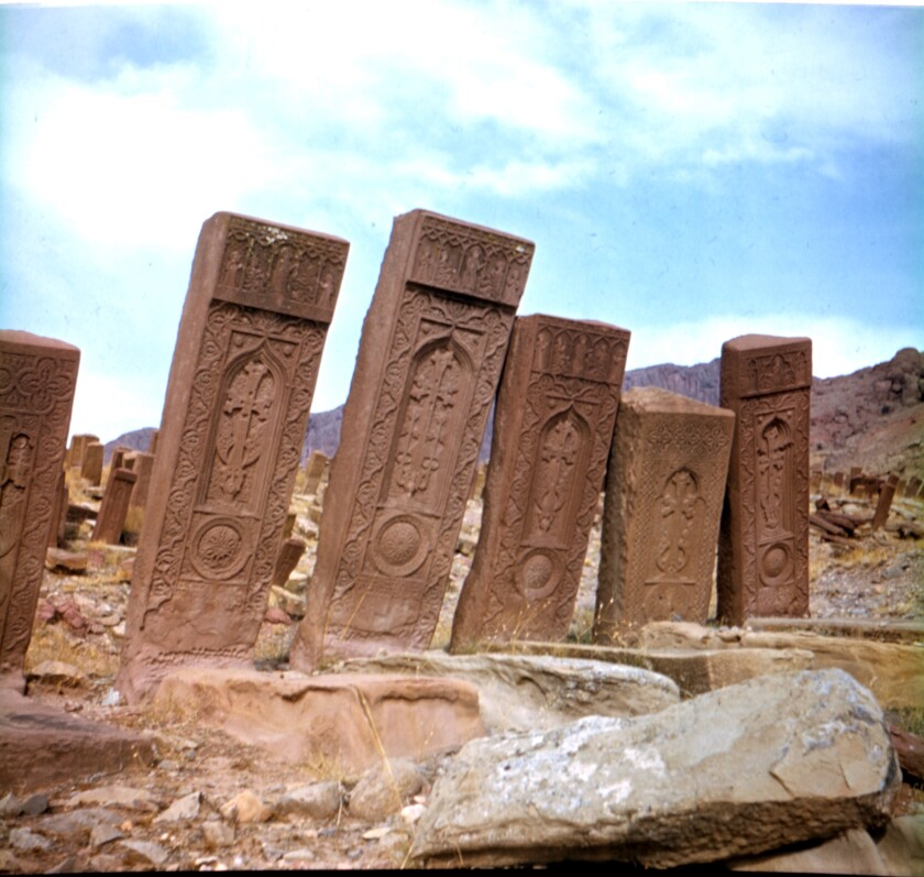 The medieval Djulfa khachkars once numbered in the thousands.