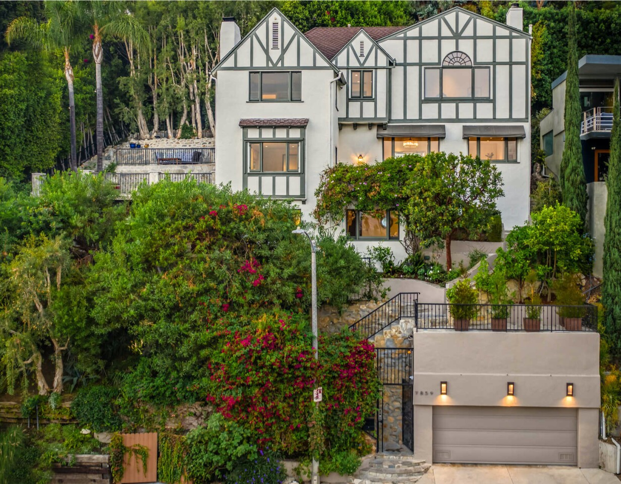 Built in the '20s but updated since, the Tudor-style spot holds three bedrooms, 3.5 bathrooms, a movie theater, gym and sauna.
