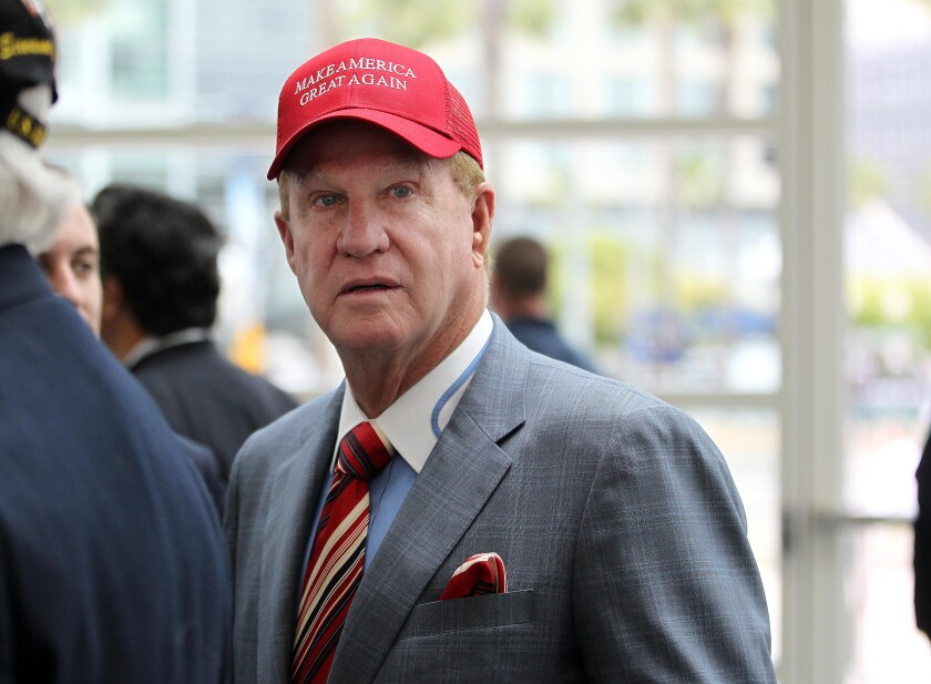 Developer Doug Manchester attends a campaign rally for presidential candidate Donald Trump in 2016.