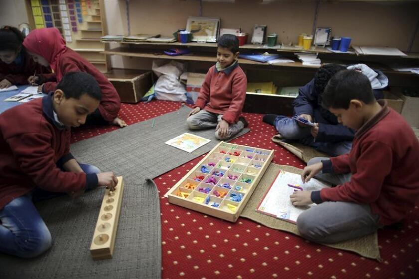 Children learn using Montessori education system. EFE/EPA/File
