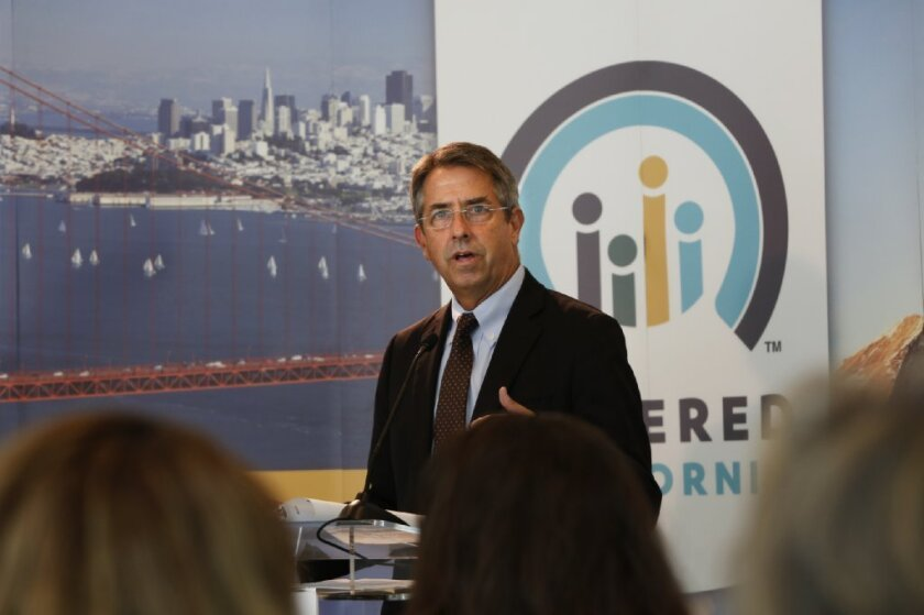 Peter Lee, Covered California's executive director, said the exchange is working hard to resolve customers' problems. Above, he discusses consumer outreach last week in Los Angeles.