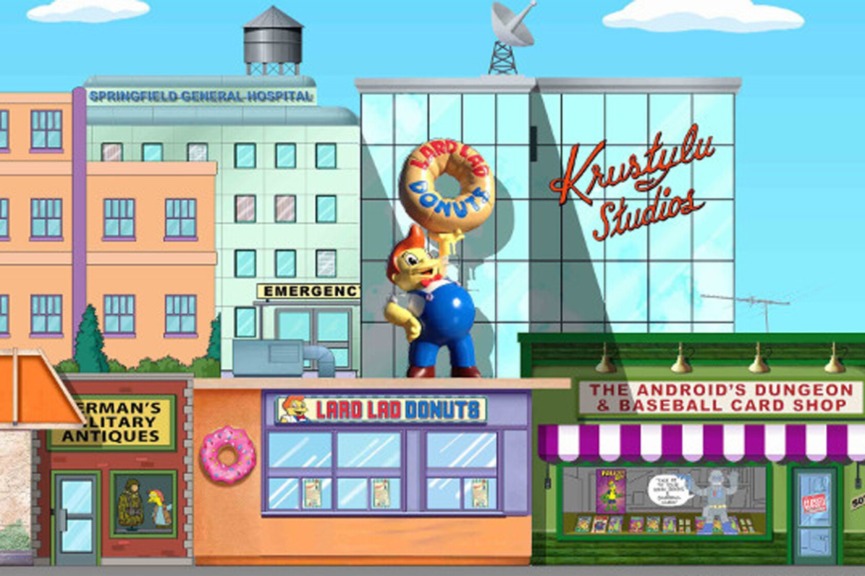 Live From The Simpsons Town Of Springfield At Universal Studios Hollywood Los Angeles Times