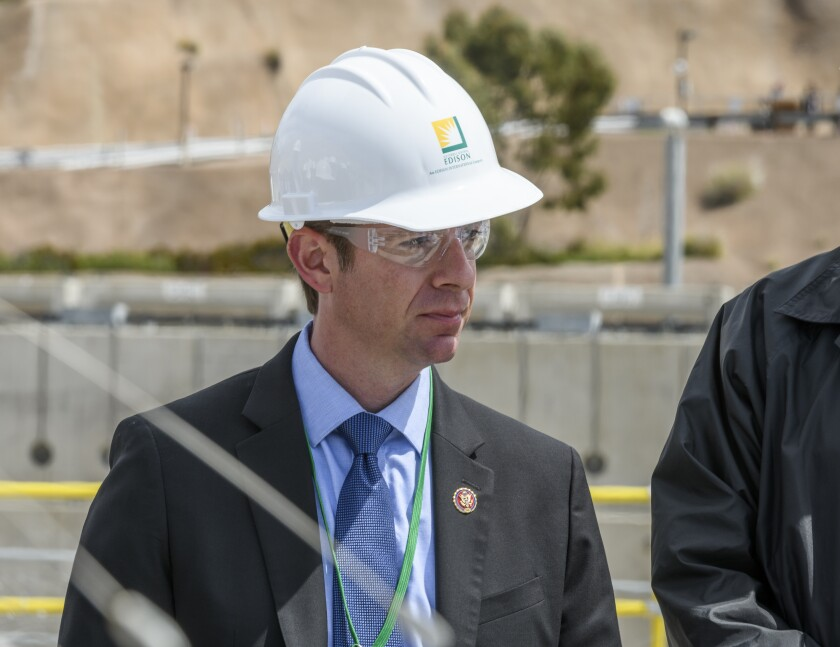 Rep. Mike Levin, D-San Juan Capistrano, while taking a tour of the San Onofore Nuclear Generating Station on April 16, 2019.
