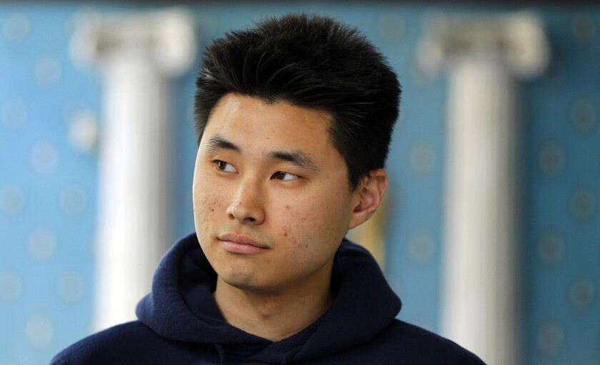 Daniel Chong suffered post-traumatic stress disorder after being held in a cell for five days with no food or water.