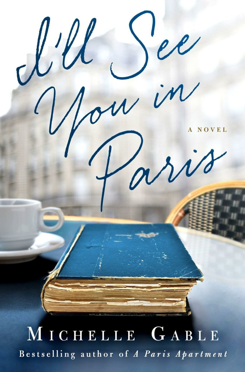 "Book jacket of ""I'll See You in Paris"""