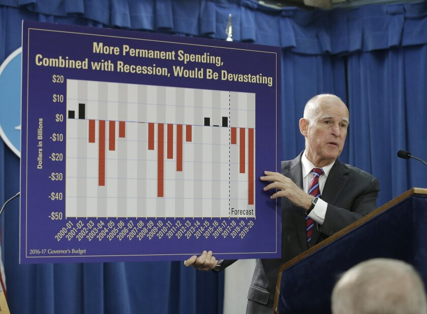 Earlier this month, Gov. Jerry Brown preshadowed his State of the State speech with a frugal budget.