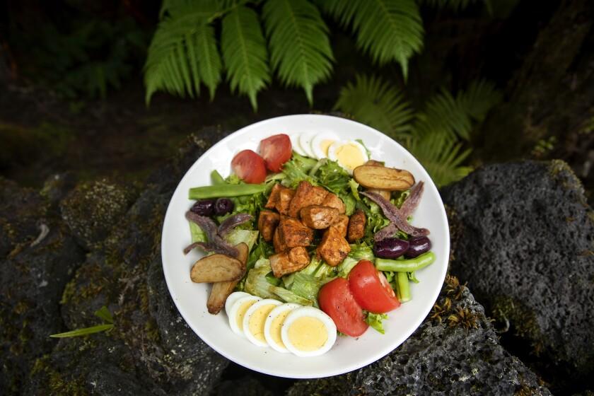 The Nicoise salad at Kilauea Lodge in Volcano Village, Hawaii.