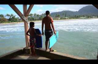 A Minute Away: Day and night, Hanalei Pier, Kauai