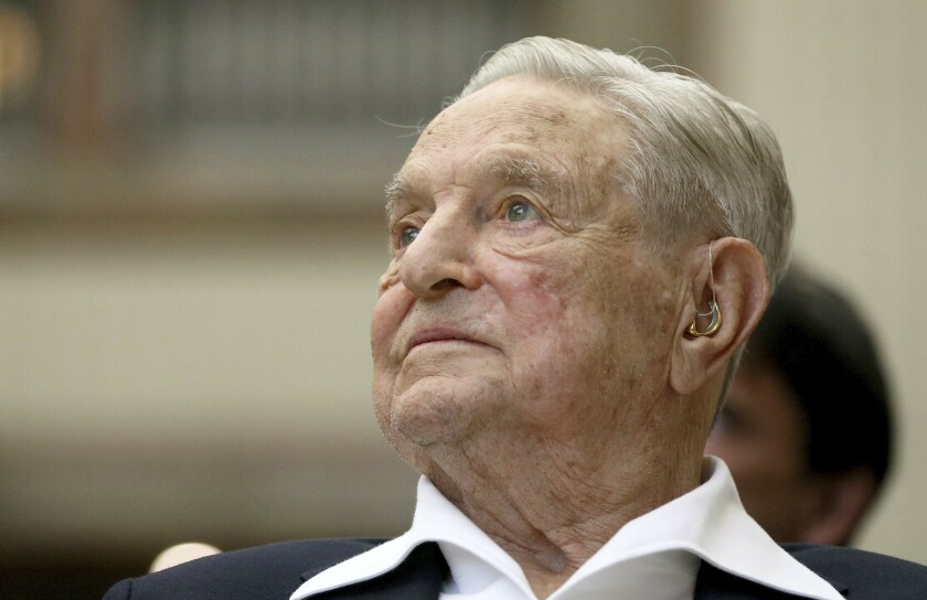 In June 2019, George Soros appears at an award ceremony in Vienna.