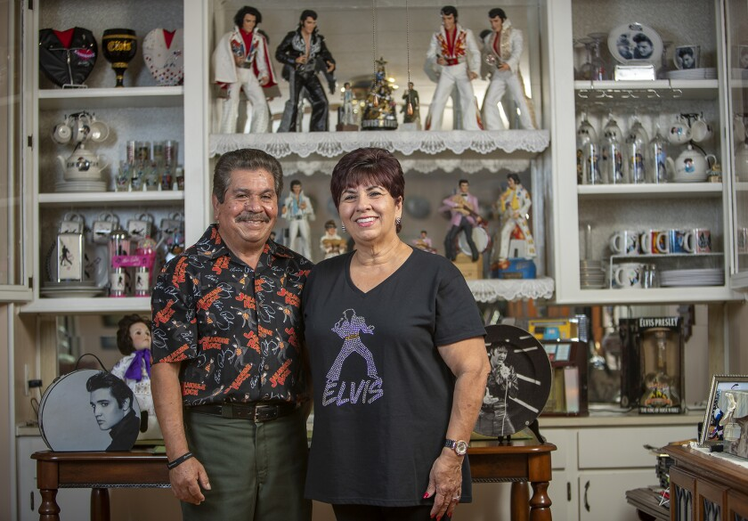 Elvis fans Sylvia Ronquillo, 67, and Jesse Nava, 68, are getting married at the 10th annual Elvis Festival on August 25 in Garden Grove.