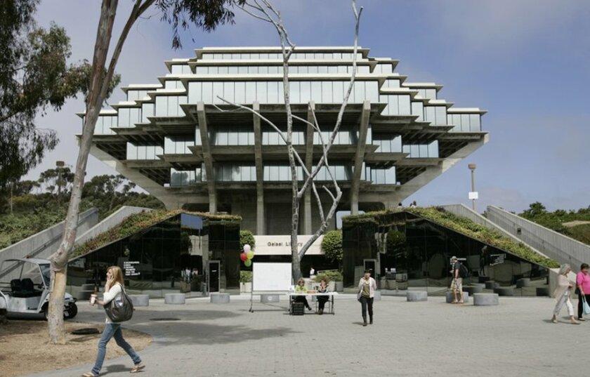 UC San Diego's Geisel Library.