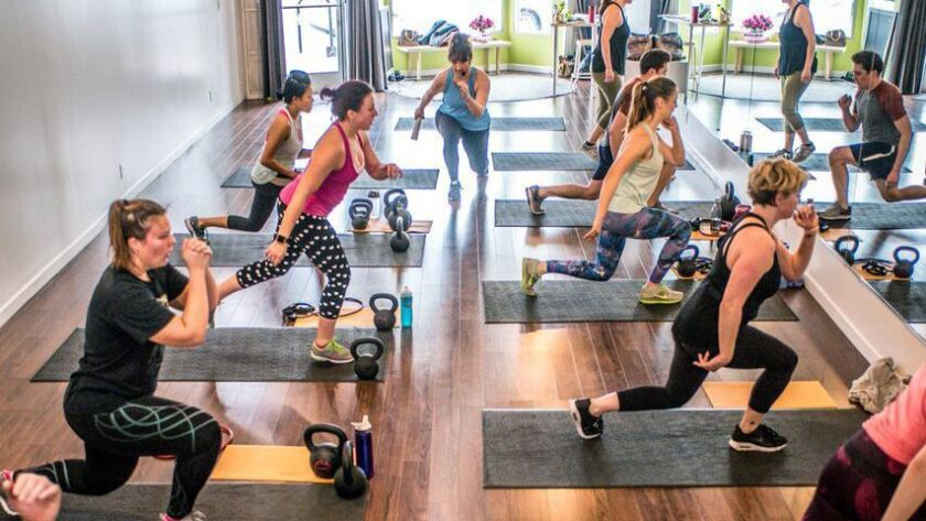 The 'Snatched in Six Weeks' class uses kettle bells and bodyweight calisthenics.