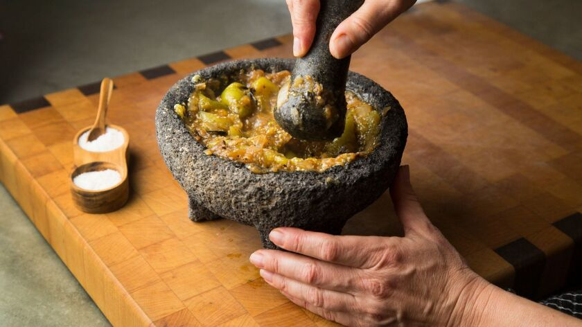 A molcajete is an ancient Mexican version of a mortar and pestle.