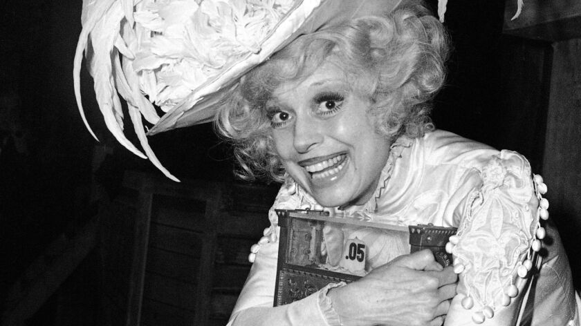 "FILE - This March 2, 1978 file photo shows Carol Channing, star of the original ""Hello, Dolly,"" in N"