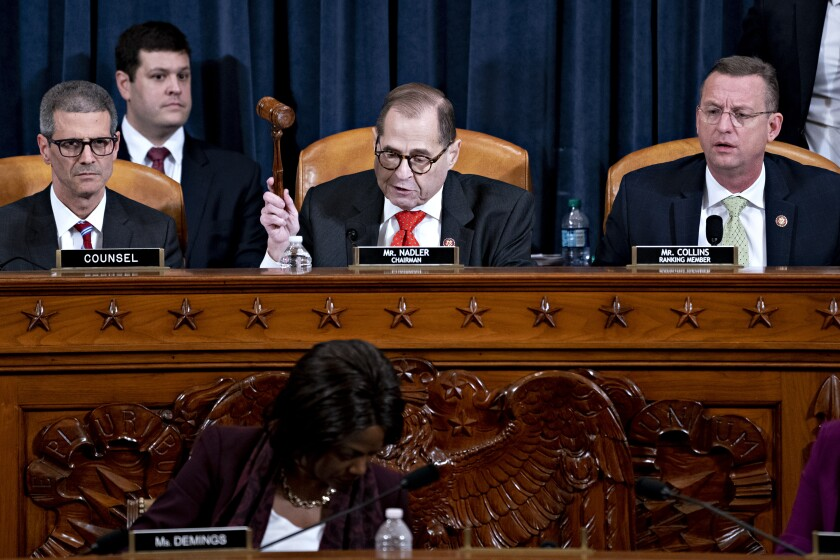 House Judiciary Chairman Jerry Nadler gavels the committee to a close Thursday.