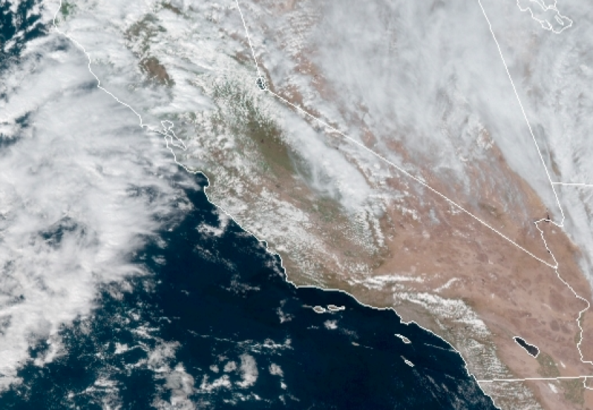About one foot of snow will fall in the San Diego County mountains.