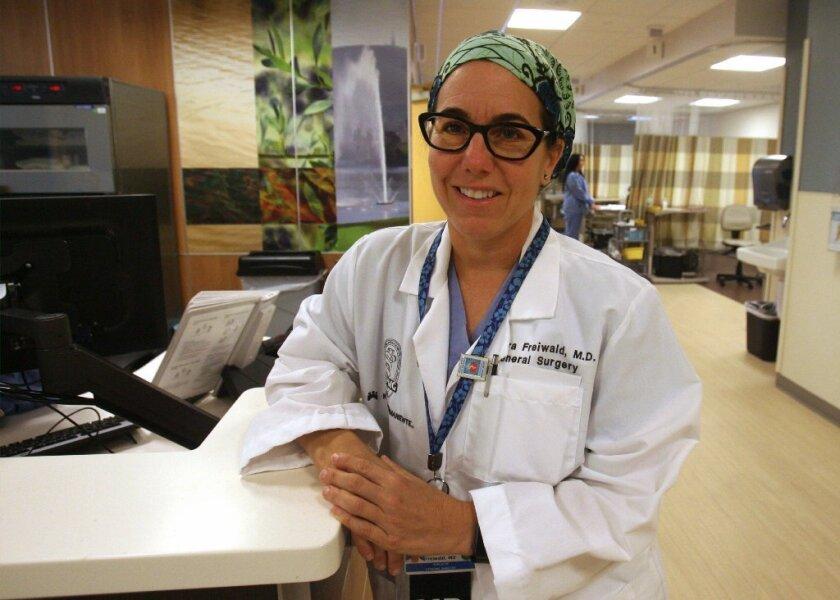 Dr. Sandra Lynn Freiwald, who volunteers with Project Acess. / photo by John Gibbins * U-T