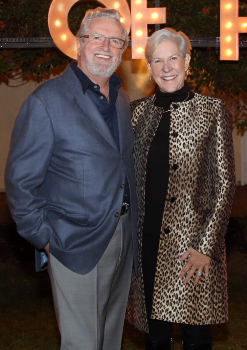 2020 Art of Fashion Honorary Chairs Les and Deborah Cross.
