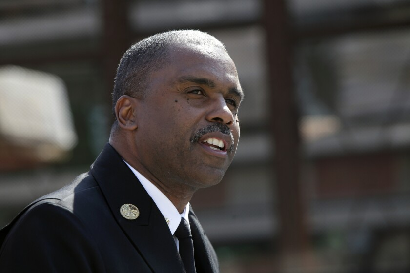 Los Angeles County Fire Chief Daryl Osby, pictured in August, said he would work with county attorneys and human resources officials to develop improved safeguards.