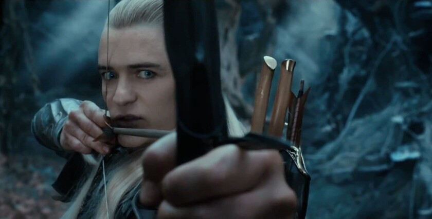 """Orlando Bloom in a scene from the upcoming """"The Hobbit: The Desolation of Smaug,"""" based on J.R.R. Tolkien's classic novel."""