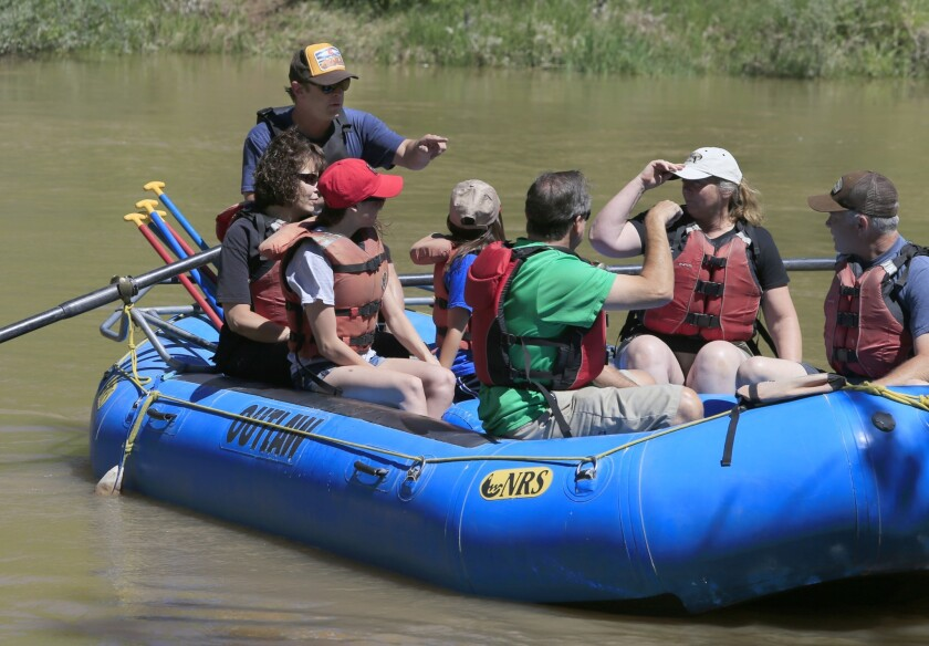 Water sports on the Animas River
