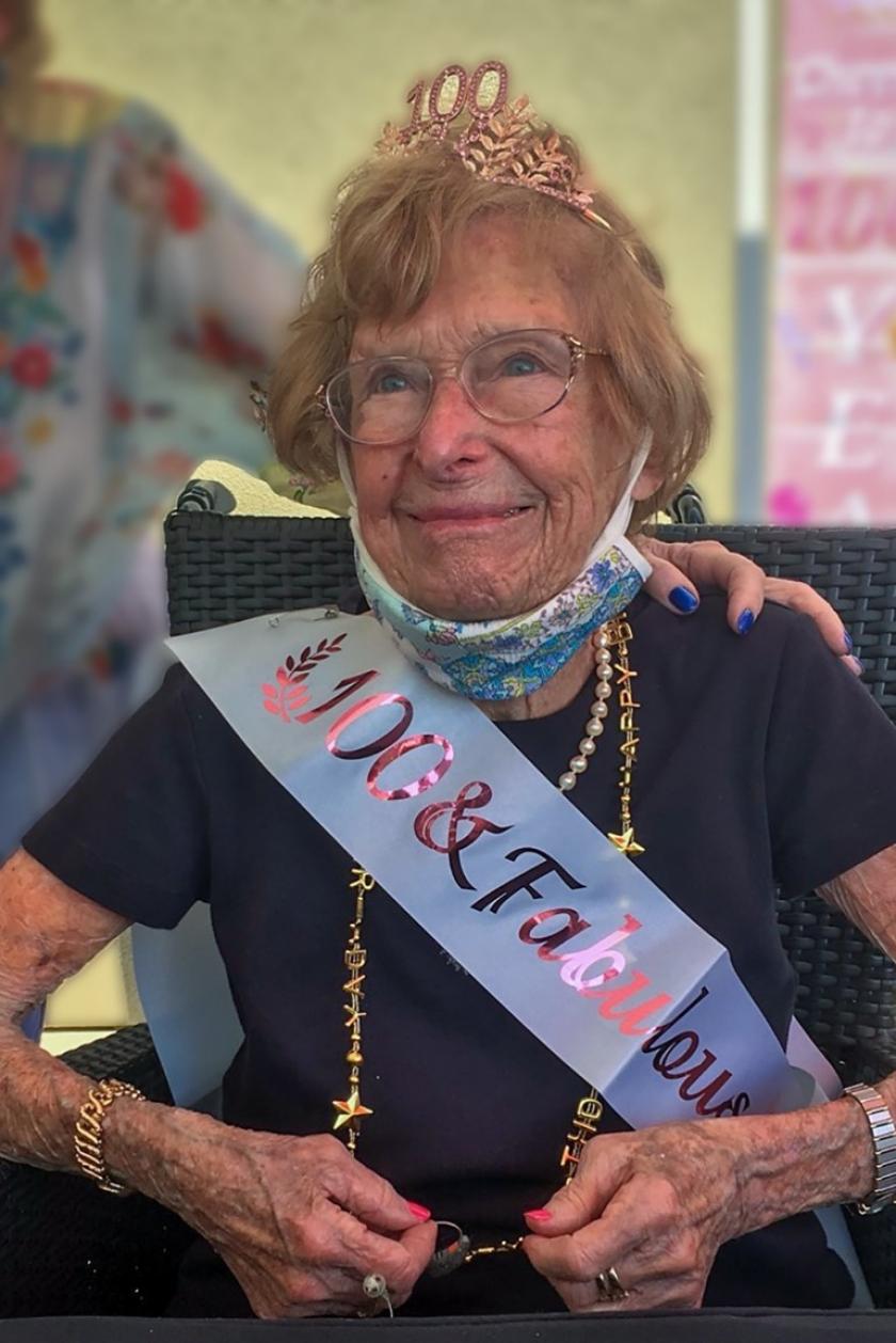 Longtime Oceanside teacher Betty Kitchin at her 100th birthday