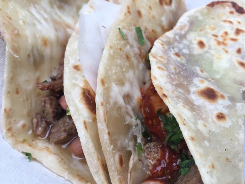 Carne asada tacos at Loqui in Culver City