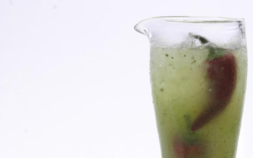 Honeydew-cilantro agua fresca with tequila