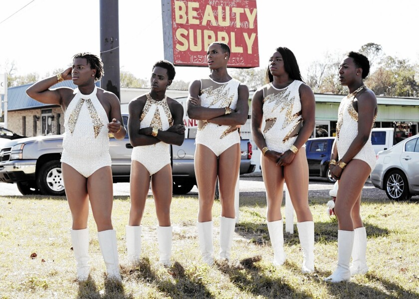 """The Prancing Elites Project"": Kentrell Collins, left, Kareem Davis, Adrian Clemons, Tim Smith and Jerel Maddox."