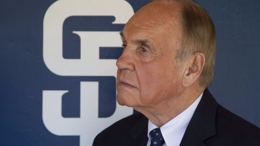 Dick Enberg retired as the San Diego Padres game TV broadcaster at the end of last season.