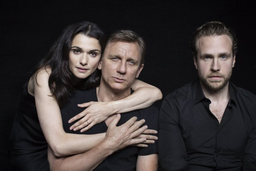 "Rachel Weisz, left, Daniel Craig and Rafe Spall are appearing in a revival of Harold Pinter's ""Betrayal"" in New York."