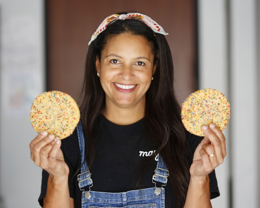 Maya Madsen, founder of Maya's Cookies, a gourmet vegan cookie company based in San Diego