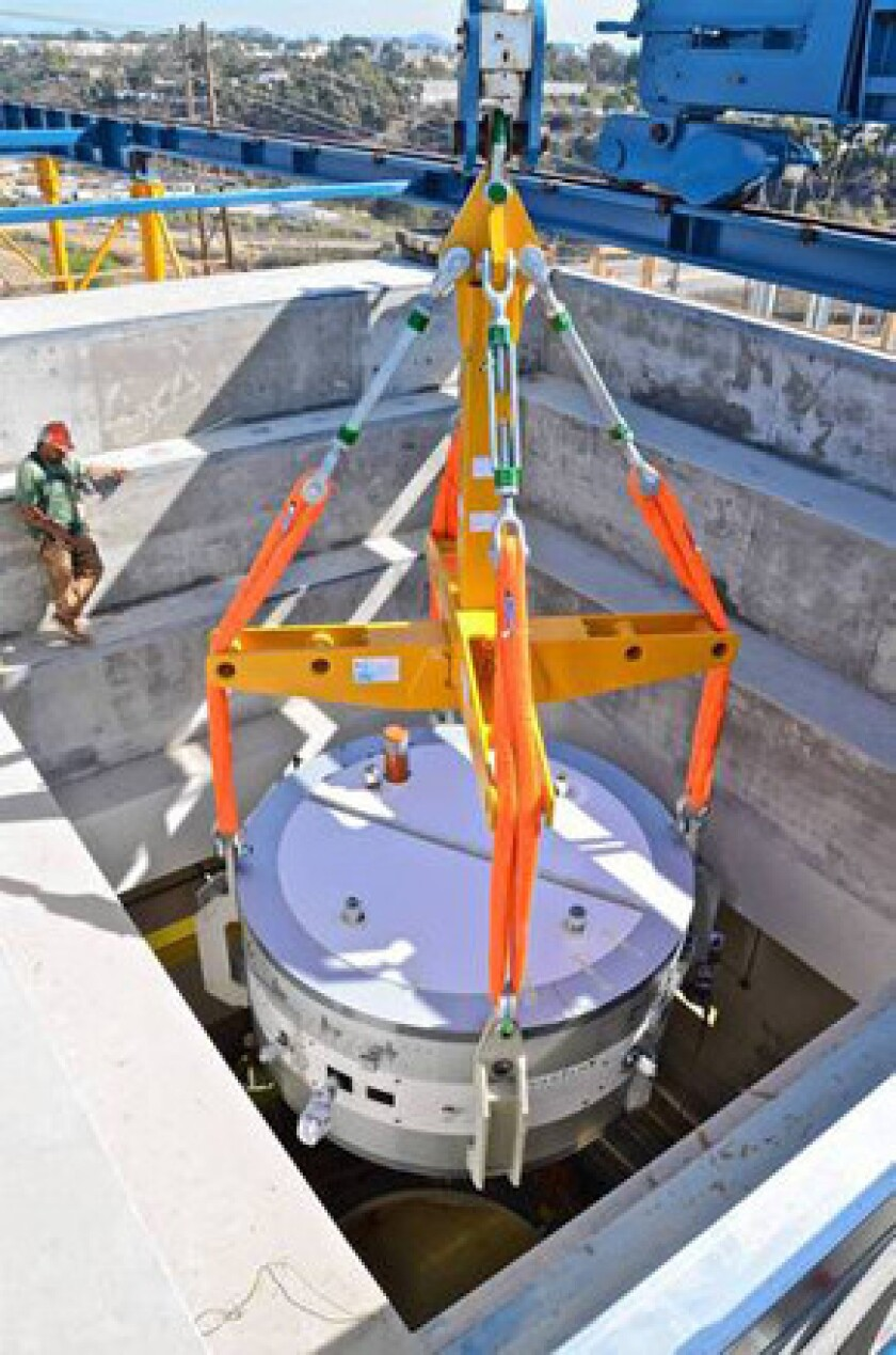 A 90-ton cyclotron is put in place at Scripps Health in San Diego as it prepares to open a $230-million proton beam therapy center this fall, only the second one in California and the 12th nationwide.
