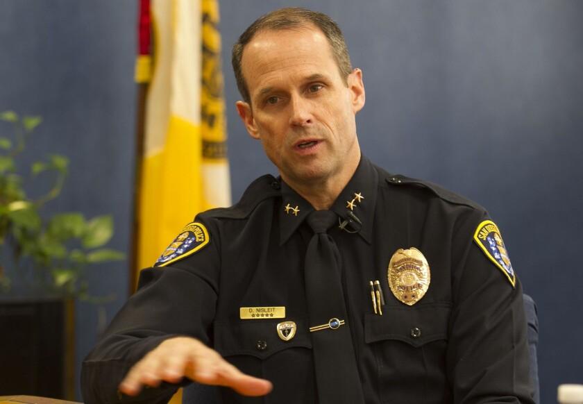 San Diego Police Department  Chief  David Nisleit.