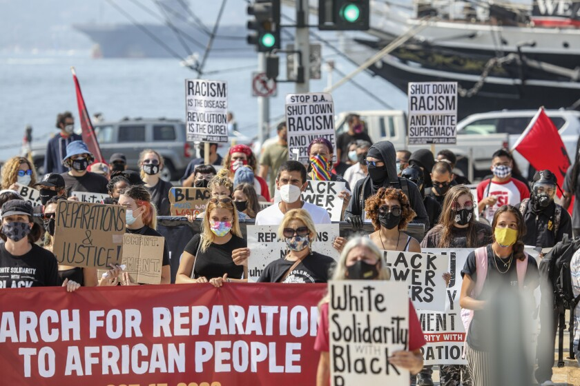 March for Reparations to African People in downtown San Diego