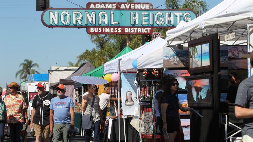 Adams Avenue Street Fair in Normal Heights.
