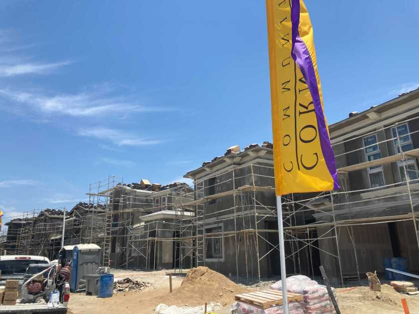 Single-family homes under construction in Chula Vista's Otay Ranch neighborhood in mid-June 2021.