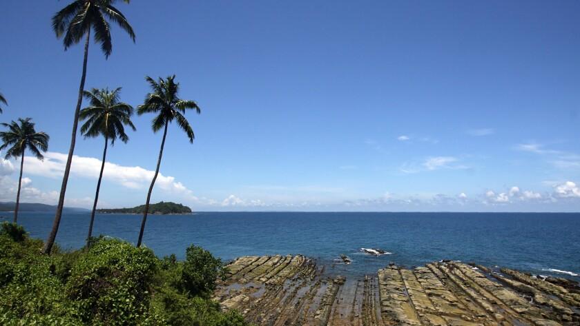 The coast line of South Andaman Island near Port Blair, capital of the Andaman and Nicobar Islands.