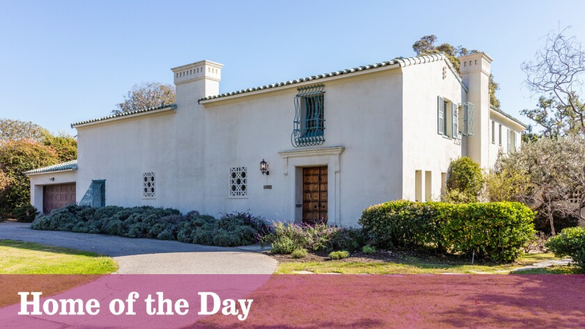 The house was designed by Santa Monica architect John Byers, who was known for his use of the Spanish Colonial Revival style.