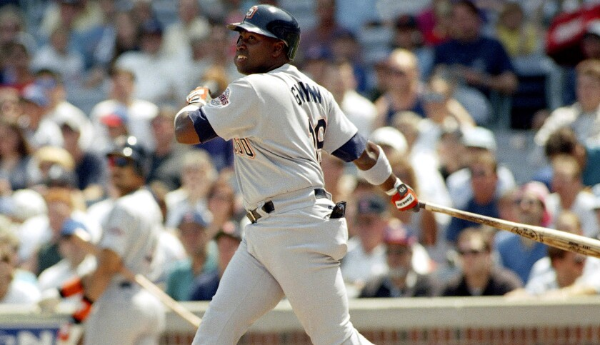 San Diego Padres outfielder Tony Gwynn was batting .394 when the 1994 season ended Aug. 11 because of a players strike.