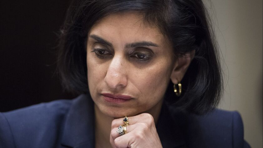 Obamacare administrator Seema Verma bemoans the effect of higher health premiums on the middle class, without acknowledging that her own boss, President Trump, is driving them higher.