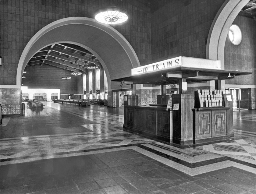 Los Angeles' Union Station in 1979, before much-needed renovations. The landmark depot marked its 75th anniversary in 2014.